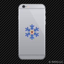 Minnesota Snowflake Cell Phone Sticker Mobile MN snow flake snowboard skiing