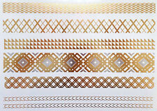 Jewelry Metallic Gold Temporary Tattoos, Gold And Silve Temporary Tattoos