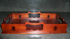 Colonial Williamsburg Mahogany Gallery Serving Tray NEW Butler Drink Decanter