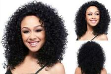 Natural Look Synthetic Hair Long Curly Black Afro Wig For African American Q34