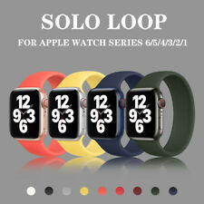Solo Loop Silicone Elastic Strap For Apple Watch SE 6 5 4 3 2 1 iWatch band