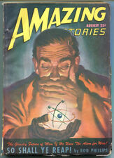 AMAZING STORIES Science Fiction Pulp Magazine August 1947 Richard Shaver