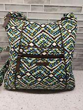 Vera Bradley Rainforest Crossbody Bag Blue Green Brown Shoulder Pursr