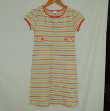 Gymboree Spring Rainbow Size 12 Girls Dress Striped Red Orange Yellow Green Blue