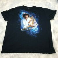 Bob Ross Men's Size 3 XL PBS Joy of Painting Space Galaxy Vintage Style T-Shirt