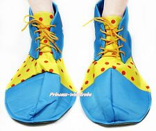 Peacock Blue Red Yellow Polka Dots Jumbo Extra Large Clown Costume Party Shoes
