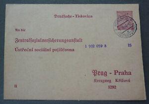 Protektorat BuM 1940, Offiziell Postkarten