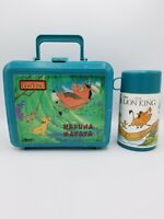"VTG 1992 Disney's The Lion King ""Hakuna Matata"" Plastic Lunchbox Thermos Aladdin"