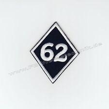 62 Free Biker Logo Raute Kutte Patch Motorradjacke Aufnäher Schwarz No Club