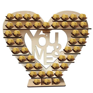Wooden Heart-shaped Chocolate Stand Wedding Candy Chocolate Display Stand UK