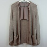 [ ZARA ] Womens Metallic Knitted Jacket | Size S or AU 10 / US 6