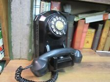 ANTIQUE TELEPHONE AUTOMATIC ELECTRIC PHONE AF50 1935 WALL CRADLE BAKELITE ROTARY
