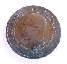 NAPOLEON III 10 centimes 1854 W