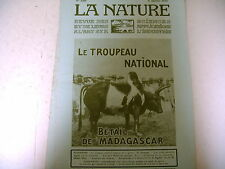 revue LA NATURE science industrie n° 2206 - 1916 guerre madagascar