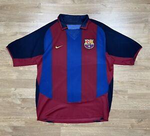 FC BARCELONA 2003 2004 HOME FOOTBALL JERSEY  SOCCER  SHIRT VINTAGE