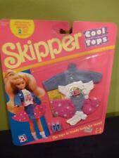 Skipper Doll Cool Tops Outfit Fashion 9052 NIP 1989 Skirt Shoe Barbie T Shirt