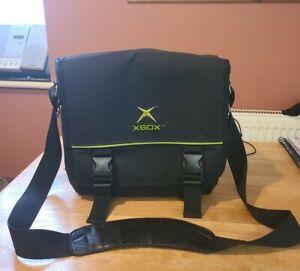 RARE Official Original XBOX Black Console Carrying Case Shoulder Bag Satchel