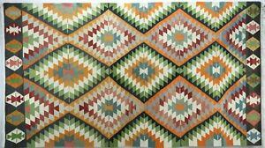 "Anatolia Turkish Classic Kilim Geometric Design Rug Carpet 73,2""X133,8"" Area Rug"