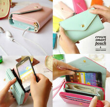 PU Leather Clutch Wallet Phone Case Card Holder Purse IPhone5 4S GALAXY S2 S3 S4