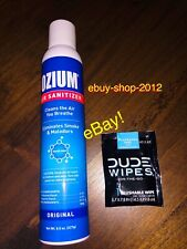 OZIUM 8 OZ Original Air Freshener W/FREE Dude Wipes Single NEW!