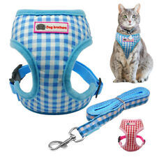 Reflective Pet Cat Harness and Leash Soft Mesh Small Puppy Dog Walking Vest S-L