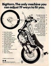 1970 KAWASAKI 350cc MOTORCYCLE  ~  ORIGINAL PRINT AD