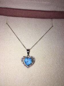 Heart Shape Topaz Gemstone Necklace Pendant