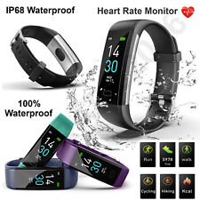 Bluetooth Smart Bracelet Fitbit Style Heart Rate Monitor Watch Pedometer Tracker