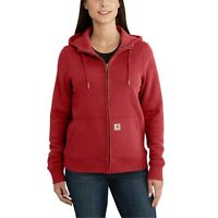 CARHARTT Women's Full-Zip 'Clarksburg' Hoodie (Medium, Crimson) Coat Jacket $69