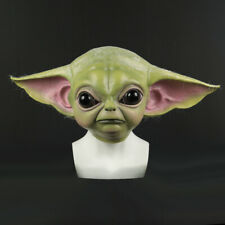 2019 Star Wars Cosplay The Mandalorian Baby Yoda Mask Fancy Dress Helmet Props