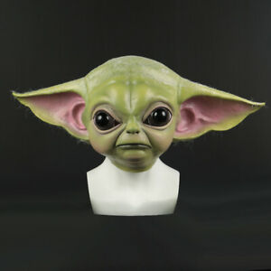 2019 Star Wars Cosplay The Mandalorian Baby Yoda Mask Fancy Dress Helmet Props