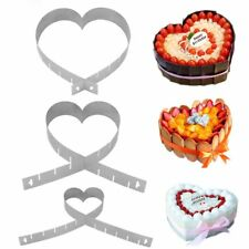 Cutter Ring Mousse Cake Mold Adjustable Heart Shape Baking Pan Stainless Steel