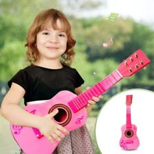 "23"" Children Kids Wooden Acoustic Pink Guitar Musical Instrument Gift For Kids"