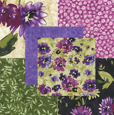 "Fragrance Floral 30 4"" fabric squares quilting cotton Northcott quilt flowers"