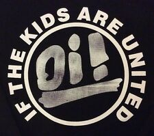 OI If The Kids Are United  big back patch  punk rockabilly