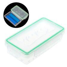 Transparent Hard Plastic Case Holder Storage Box For 2x 18650 Batteries Portable