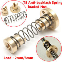 T8 Lead Screw Anti-Backlash Nut For 2mm / 8mm Trapezoidal Rod 3D Printer Shaft