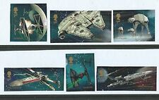 GREAT BRITAIN 2015 STAR WARS SET 6 EX. MINIATURE SHEET FINE USED