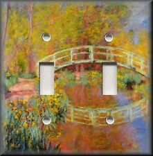 Metal Light Switch Plate Cover - Monet Art Japanese Garden Bridge Monet Decor
