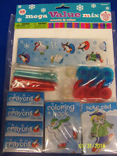 Snow Christmas Create & Color Holiday Party Activity Mega Mix Value Pack Favors