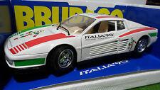 FERRARI TESTAROSSA Mondial Foot Italia 90 1/18 d BURAGO 3019IT voiture miniature