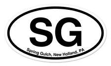 """SG Spring Gulch New Holland PA Oval car window bumper sticker decal 5"""" x 3"""""""