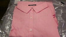 NEW! Lands End WOMENS LONG SLEEVE NO IRON SUPIMA BLOUSE SHIRT PINK SIZE 18