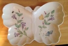 Lenox Butterfly Meadow Hors D'oeuvre Plate shape of a Butterfly Platter New Nwt