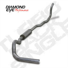 "Diamond Eye 4"" SS Turbo Back Single Exhuast For 89-93 Dodge Ram Cummins 5.9L 4x4"