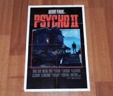 "ORIGINAL MOVIE POSTER ""PSYCHO II"" 1982 FOLDED ONE SHEET PERKINS"