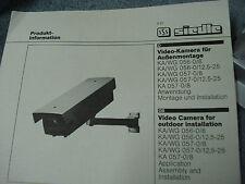 Siedle Kamera für Außenmontage KA/WG 057-0  12,5-25 mm NEU,OVP Camera