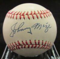 Johnny Mize Signed AL Baseball - Beckett BAS