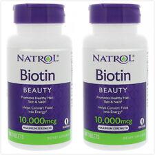 2pcs Natrol Biotin -- 10000 mcg - 100 Tablets