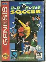 Pro Moves Soccer Sega Genesis 1994 Cartridge Case Great Condition Fast Shipping